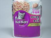 カルカン味わいセレクト 12ヶ月までの子猫用かにかま入りまぐろ